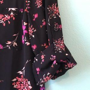 Black floral Express Portofino shirt